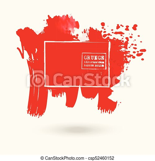 color ink spots, white background - csp52460152