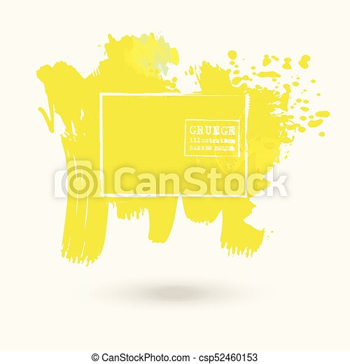 color ink spots, white background - csp52460153