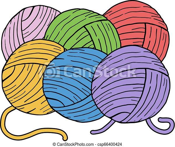 Bolas de color de lana - csp66400424