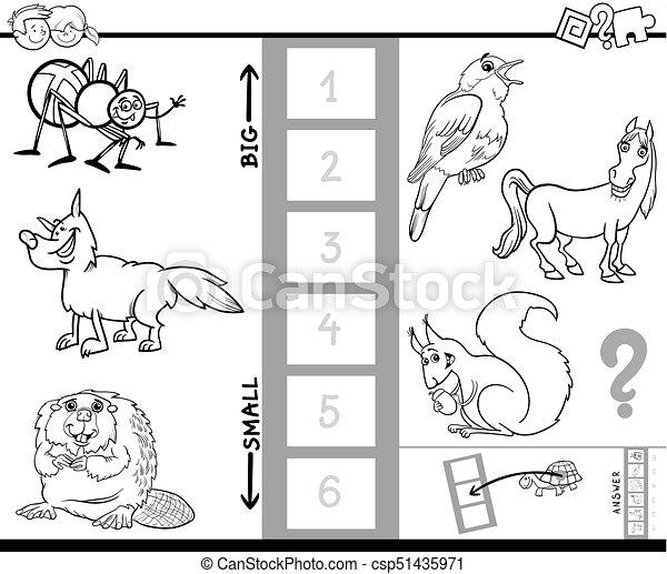 Encuentra la mayor actividad de libros de colores de animales - csp51435971