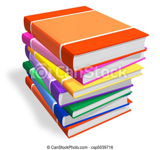 Un montón de libros de color - csp5039716