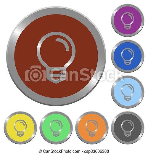 Color light bulb buttons - csp33606388