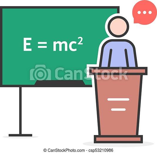 color linear physics teacher concept of emc emc2 theorem rh canstockphoto com physics logo design clipart physics clipart images