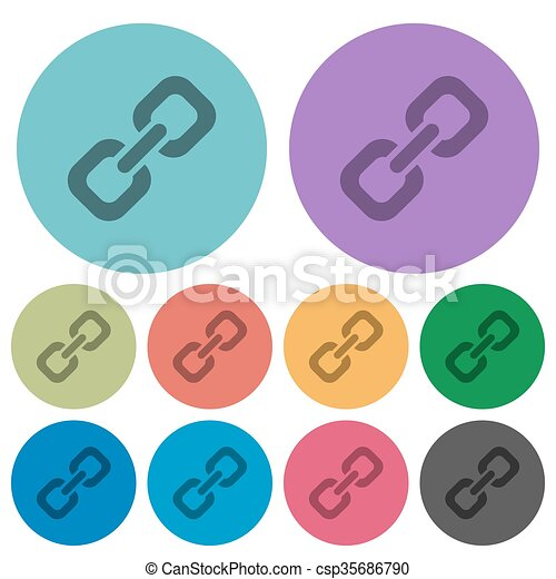 Color link flat icons - csp35686790