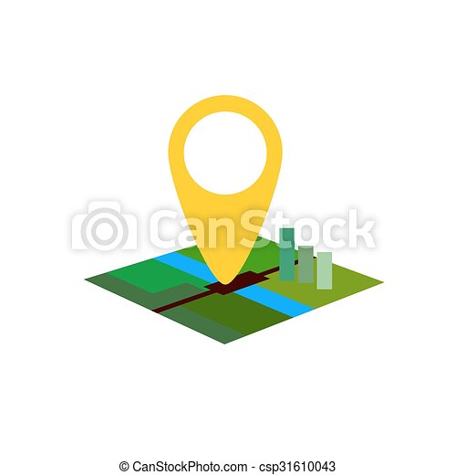 color location map on white background flat - csp31610043