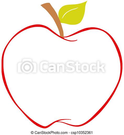 Color, manzana, contorno. Color, contorno, carácter, manzana ...