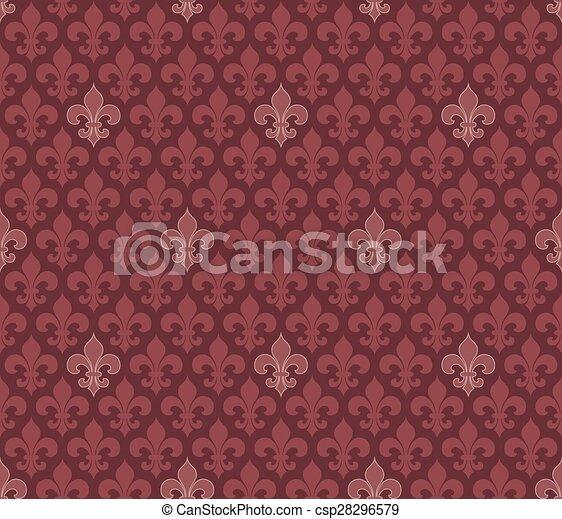 Color Marsala De Seamless Fleur Fondo Lis Wallpaper