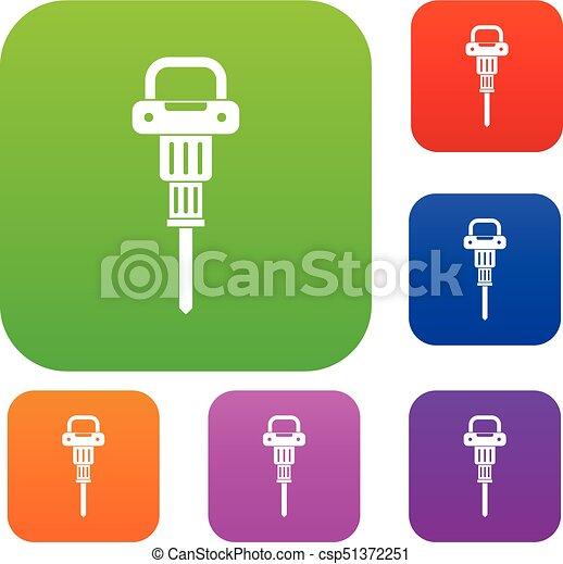 Coleccion de colores de martillo neumático - csp51372251