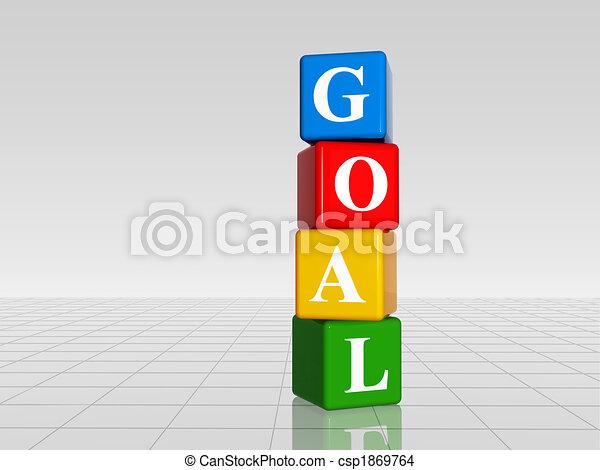 Gol de color con reflexión - csp1869764