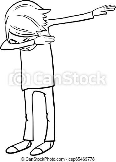 El chico de los dibujos haciendo un libro de colores - csp65463778