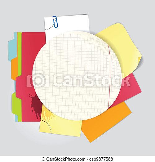 color office stuff  - csp9877588