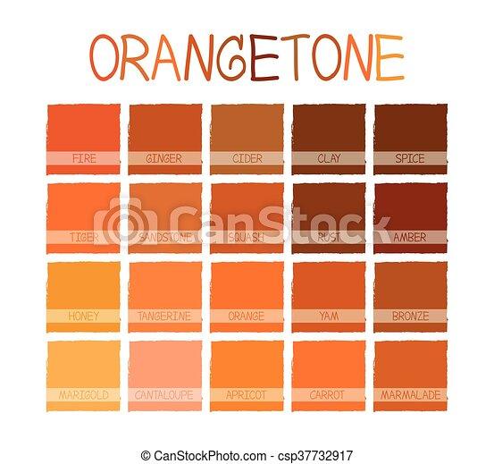 El tono de color naranja - csp37732917