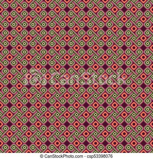 Color Ornamento Style Azteca Geométrico