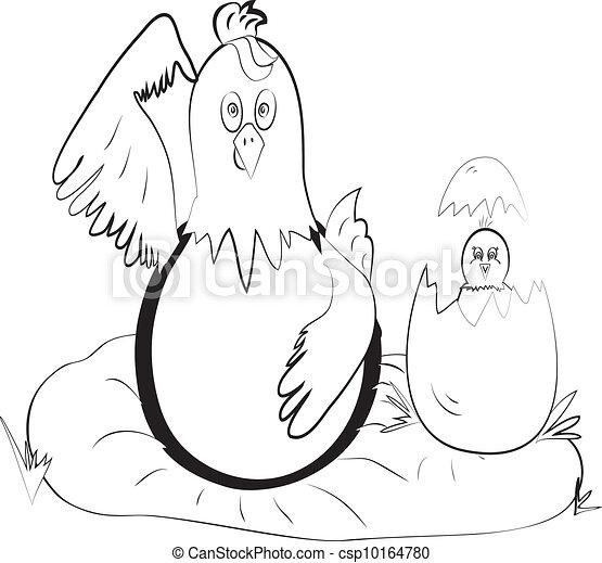 color page chicken eqq - csp10164780