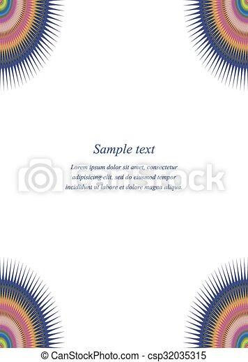Color page corner design template  - csp32035315