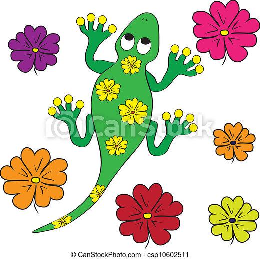 color page geko lizard - csp10602511