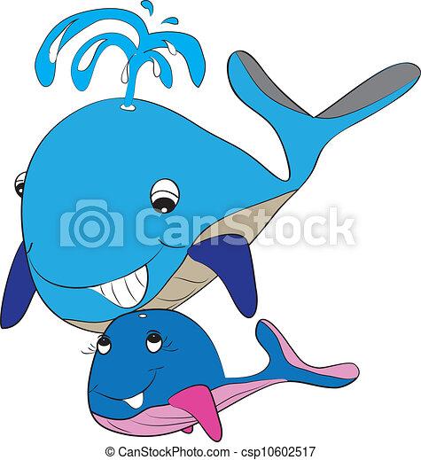color page whale - csp10602517