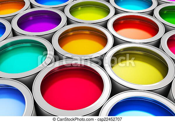Color paint cans - csp22452707