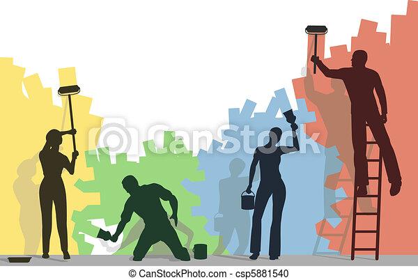 Color painters - csp5881540