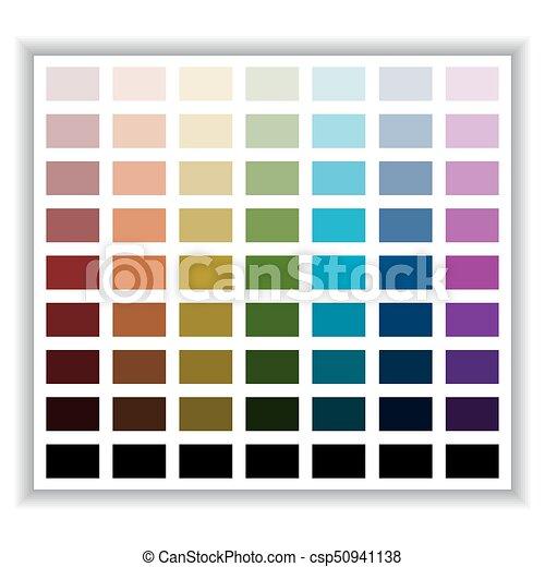 Color Palette Color Shade Chart Vector Illustration Color Palette