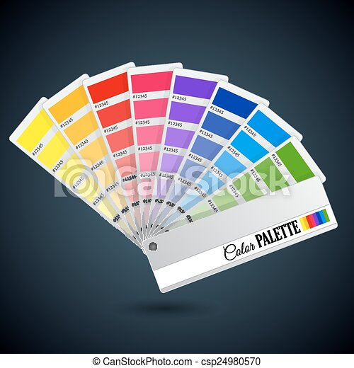 Color palette guide. Catalogue cards - csp24980570