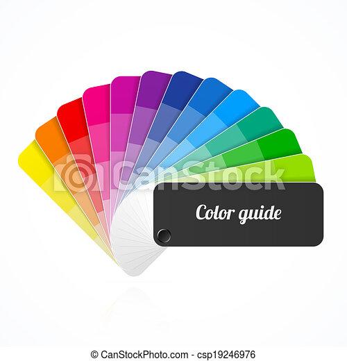 Color palette guide, fan, catalog - csp19246976