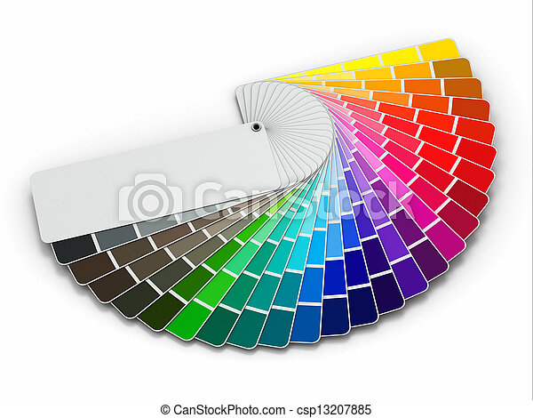 Color palette guide on white background - csp13207885
