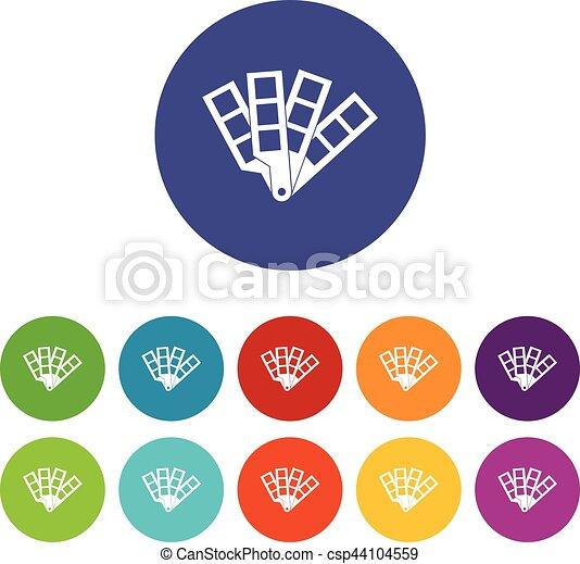 Color palette guide set icons - csp44104559