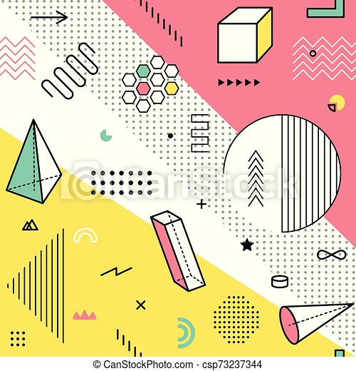 Color Pattern With Geometric Graphic Elements Geometrical Shapes Backdrop For Abstract Fashion Vector Background Design In