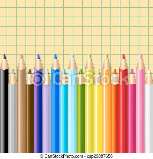Color Pencils - csp23887658