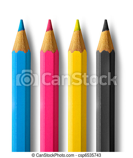 Color pencils cmyk - csp6535743
