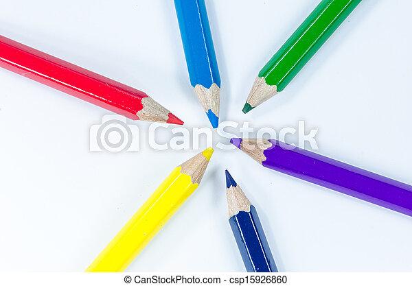 Color pencils crayon - csp15926860