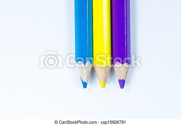 Color pencils crayon - csp15926791