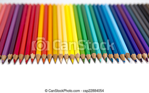 Color pencils on white background - csp22884054