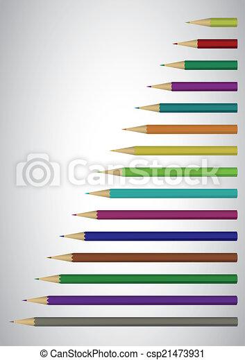 Color pencils poster - csp21473931