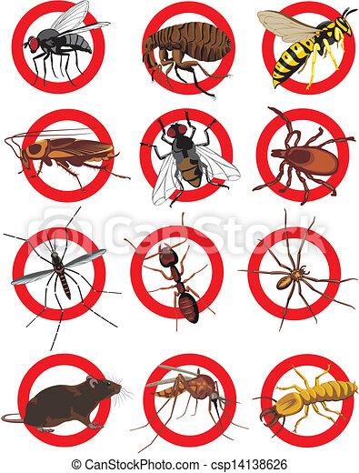 El icono de Pests, color - csp14138626