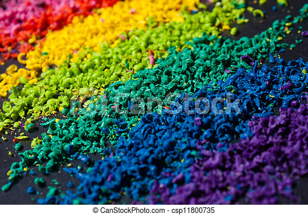 Color Pigment Sliced Closeup Photo