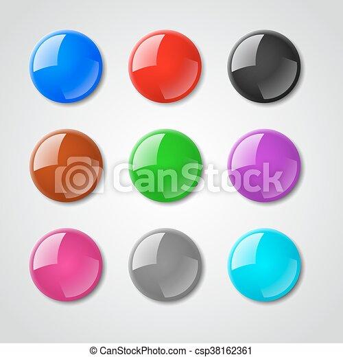 Color pin magnet vector set - csp38162361