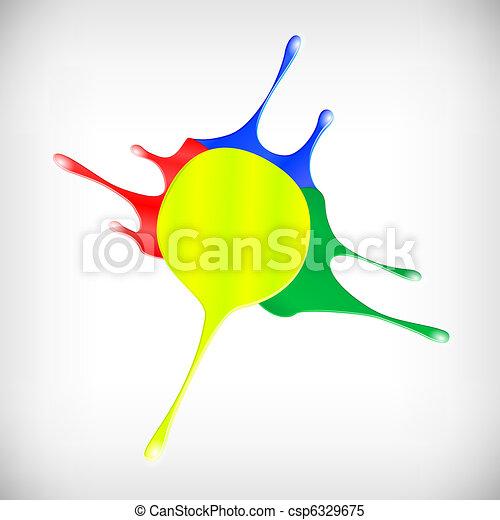 Lágrimas de pintura color - csp6329675