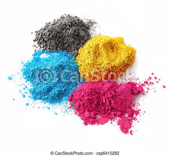 Color powder cmyk - csp6410282