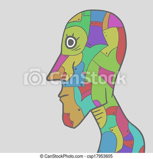Color puzzle face - csp17953605