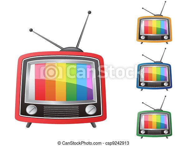 color retro tv,vector - csp9242913