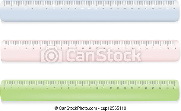 Color ruler on white - csp12565110