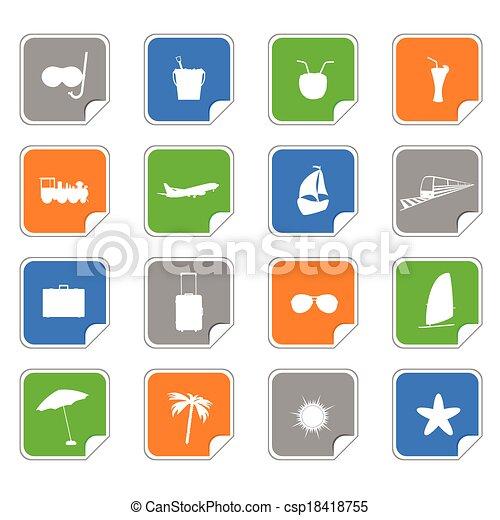Símbolo en el vector de color de las etiquetas - csp18418755