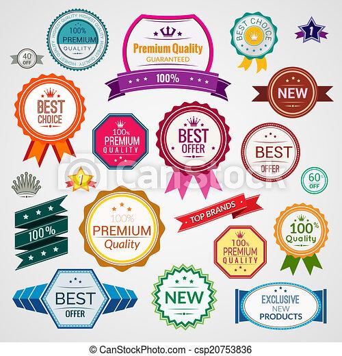 Color sale labels set - csp20753836