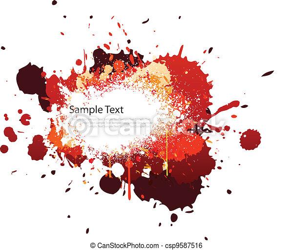 Salpicadura de color rojo - csp9587516