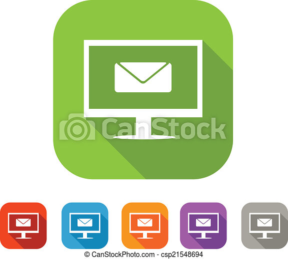 Color set of flat mail icon - csp21548694
