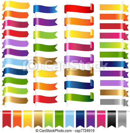 Color Set Web Ribbons - csp7724919