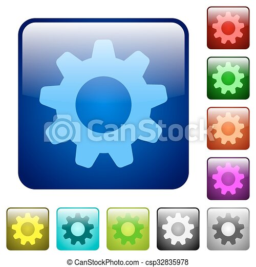 Color settings square buttons - csp32835978