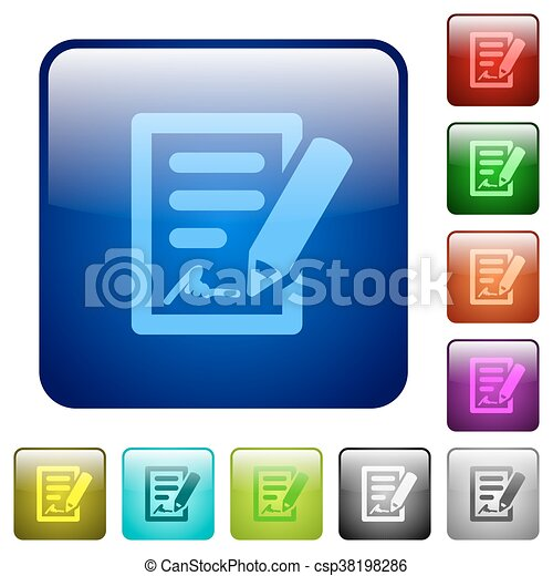 Color signing contract square buttons - csp38198286